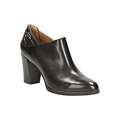 Clarks - Black leather 'kadri dylan' heeled shoe boot