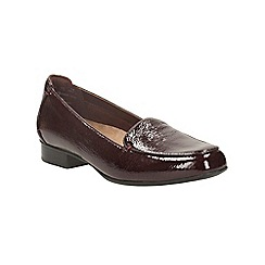 Clarks - Burgundy patent keesha luca slip on shoe