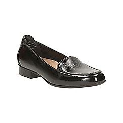 Clarks - Black patent keesha luca slip on shoe