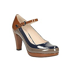 Clarks - Cognac kendra dime heeled mary jane court shoe