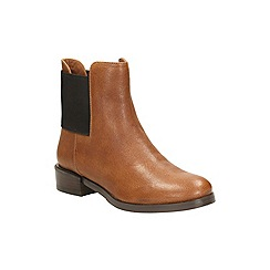 Clarks - Dark tan leather 'marquette wish' chelsea boot
