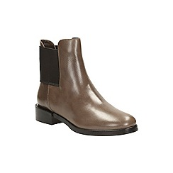 Clarks - Taupe leather 'marquette wish' chelsea boot