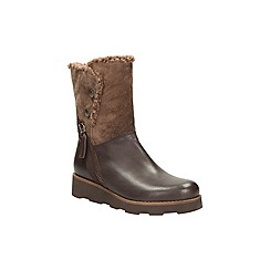 Clarks - Brown leather 'okemo sienna' mid calf boot