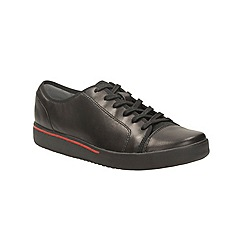 Clarks - Black 'penwick abbot' lace up sport-luxe inspired shoe