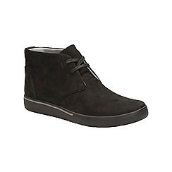 Clarks - Black nubuck 'penwick mezza' lace up ankle boot