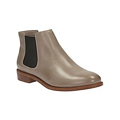 Clarks - Mushroom leather taylor shine chelsea boot