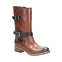 Clarks - Rust volara melody mid calf boots