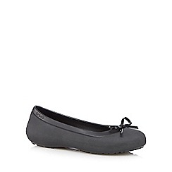 Crocs - Black bow ballet pumps