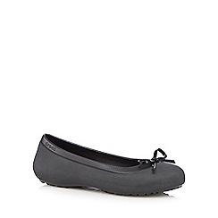 Crocs - Black bow ballet pumps