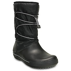 Crocs - Black crocband cinch boot