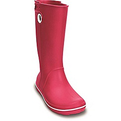Crocs - Dark pink crocband jaunt rain boot