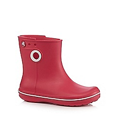 Crocs - Pink 'Jaunt Shorty' wellington boots