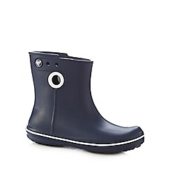 Crocs - Navy 'Jaunt Shorty' wellington boots