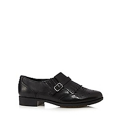 Hotter - Black 'Seaton' leather brogues