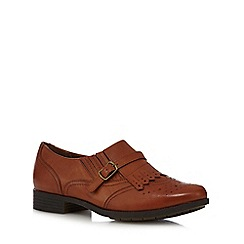 Hotter - Tan 'Seaton' leather brogues