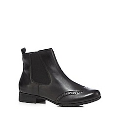 Hotter - Black 'Shawbury' leather ankle boots