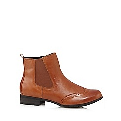 Hotter - Tan 'Shawbury' leather ankle boots
