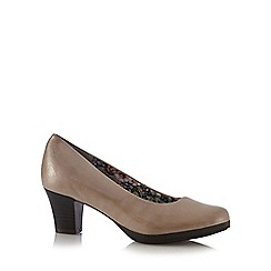 Hotter - Grey 'Angelica' mid heeled court shoes