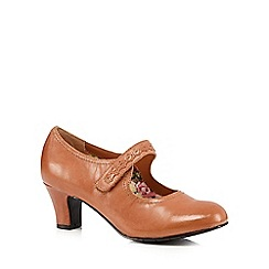 Hotter - Tan 'Claudette' leather mid heeled shoes