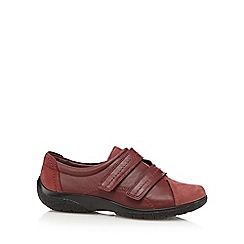 Hotter - Maroon 'Leap' leather shoes