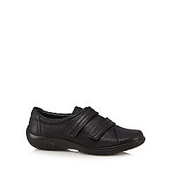 Hotter - Black 'Leap' leather shoes