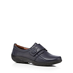 Hotter - Navy 'Sugar' leather shoes
