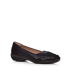 Hotter - Black 'Gillian' leather mid slip on shoes