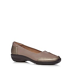 Hotter - Grey 'Gillian' leather mid slip on shoes