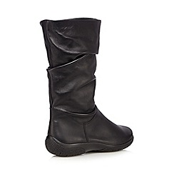 Hotter - Black leather slouchy boots