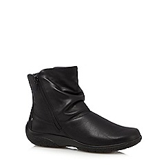 Hotter - Black 'Whisper' leather ankle boots