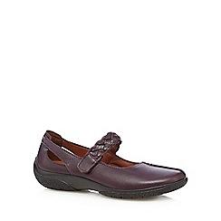 Hotter - Purple leather plaited strap pumps