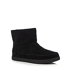 Skechers - Black leather 'Earthwise Posey' ankle boots