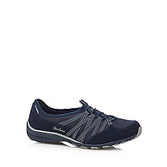 Skechers - Navy 'Conversations Holding' lace up trainers