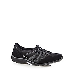 Skechers - Black 'Conversations Holding' lace up trainers