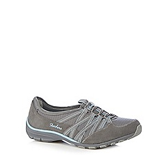 Skechers - Grey 'Conversations Holding' lace up trainers