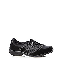 Skechers - Black 'Conversation' lace up trainers