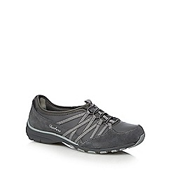 Skechers - Grey 'Conversation' leather lace up trainers