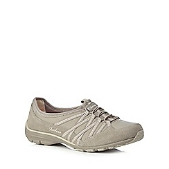 Skechers - Taupe 'Conversations' leather lace up trainers