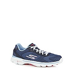 Skechers - Navy 'Go Walk 3' lace up trainers