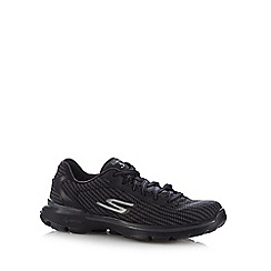 Skechers - Black 'Go Walk 3' lace up trainers