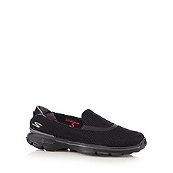Skechers - Black 'Go Walk 3' slip on shoes