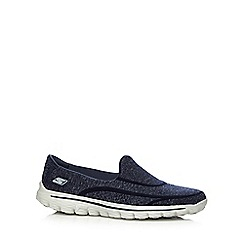 Skechers - Navy 'GoWalk 2 Super Sock' shoes