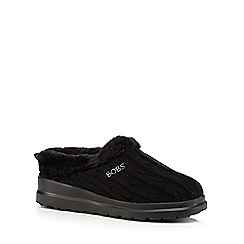 Skechers - Black 'Bobs' mule slippers