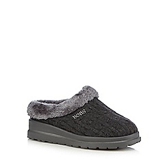 Skechers - Dark grey 'Bobs' mule slippers