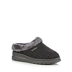 Skechers - Dark grey 'Bobs' mule slippers