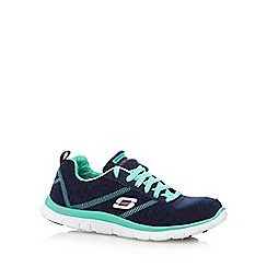 Skechers - Navy 'Appeal Pretty' neon trainers
