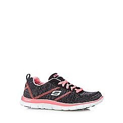 Skechers - Black 'Appeal Pretty' neon trainers