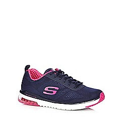 Skechers - Navy 'Air Infinity' lace up trainers