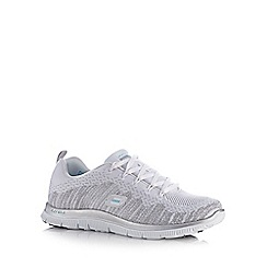 Skechers - White 'Flex Appeal Instant' trainers