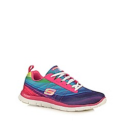 Skechers - Pink 'Pretty Plea' flex sole trainers